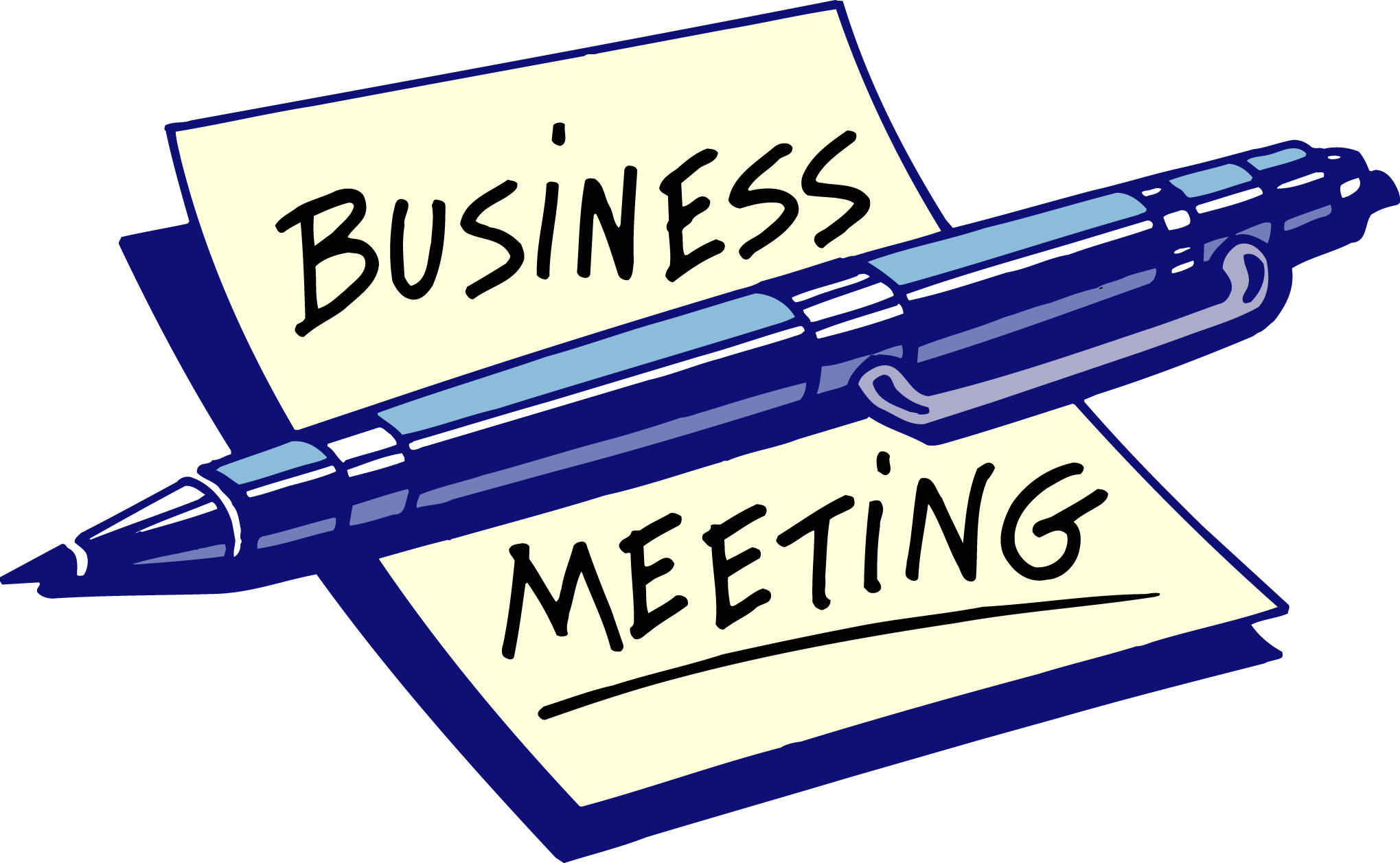 Business meeting clipart 4