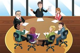 Business meeting clipart 5