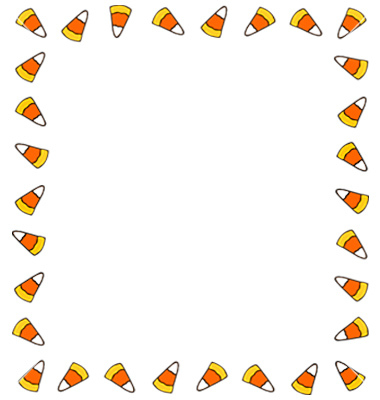 Candy corn border candy clipart clipart