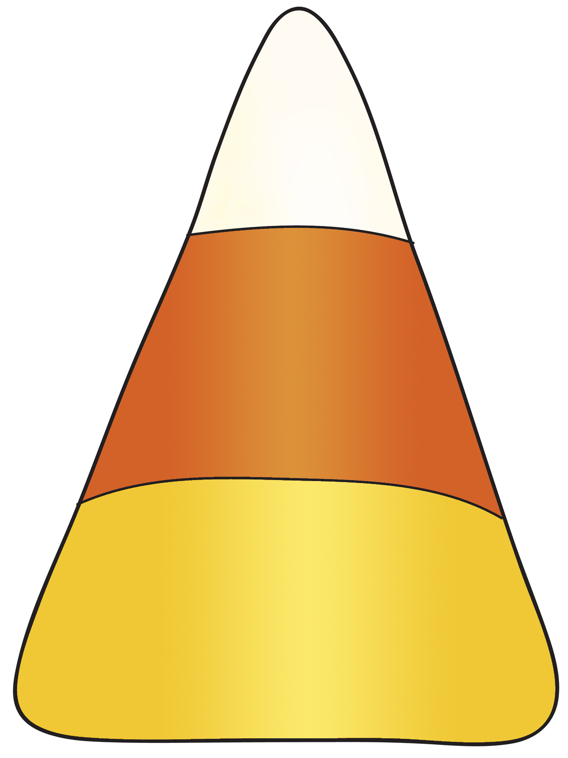 Candy corn clipart 3