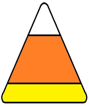 Candy corn clipart 7