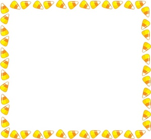 Candy corn clipart image halloween themed page border