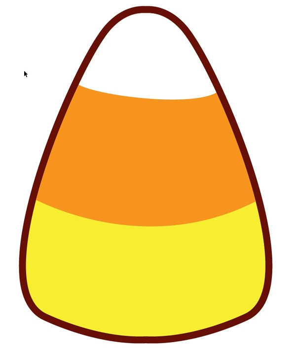 Candy corn template printable clipart