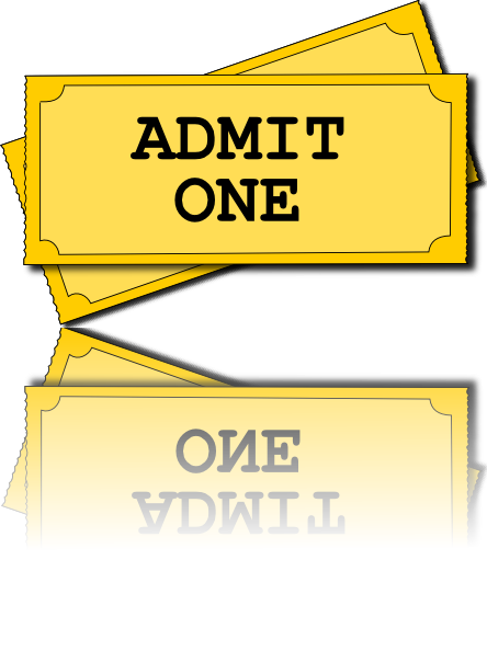 Carnival ticket clipart