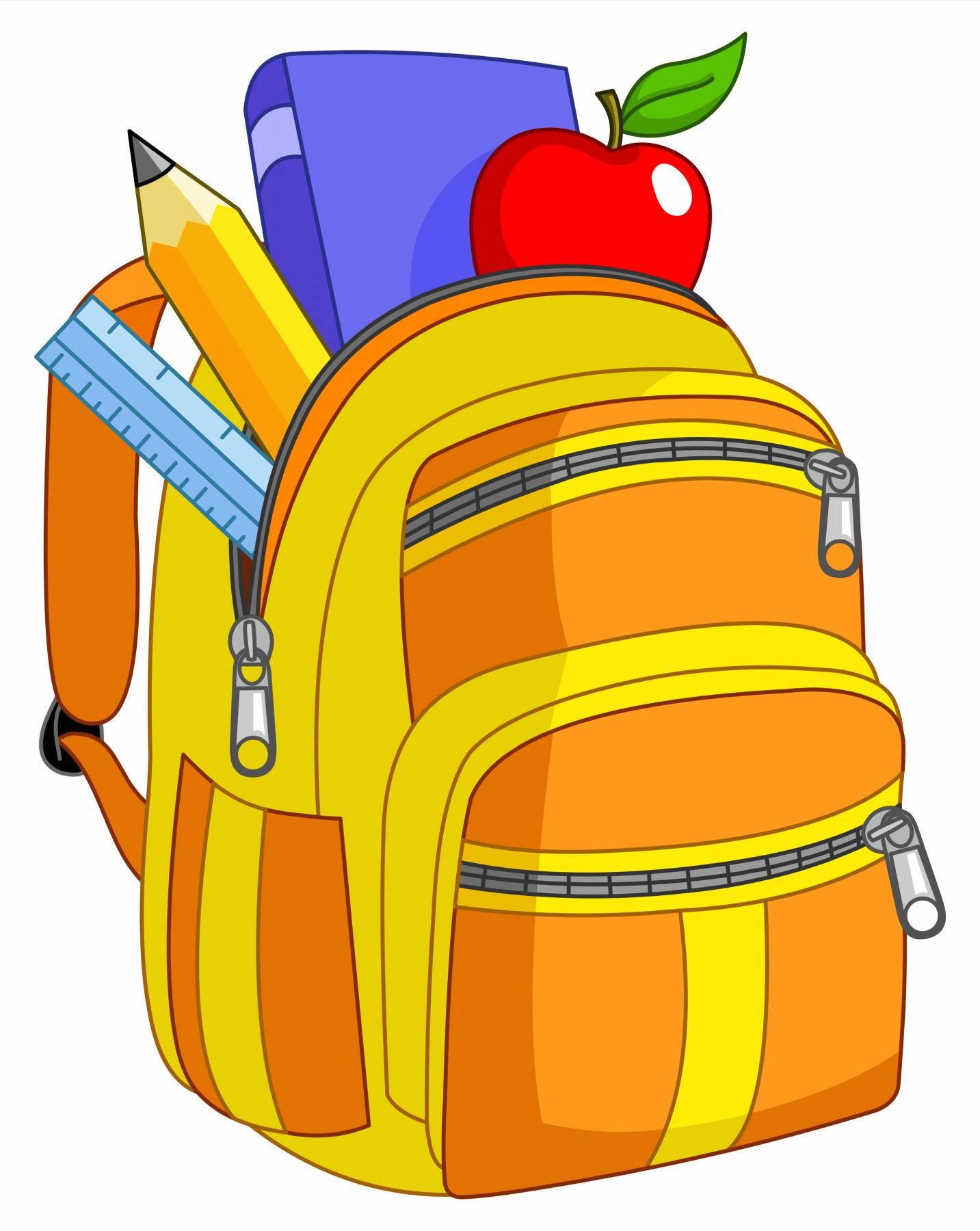 Cartoon school supplies clipart 3