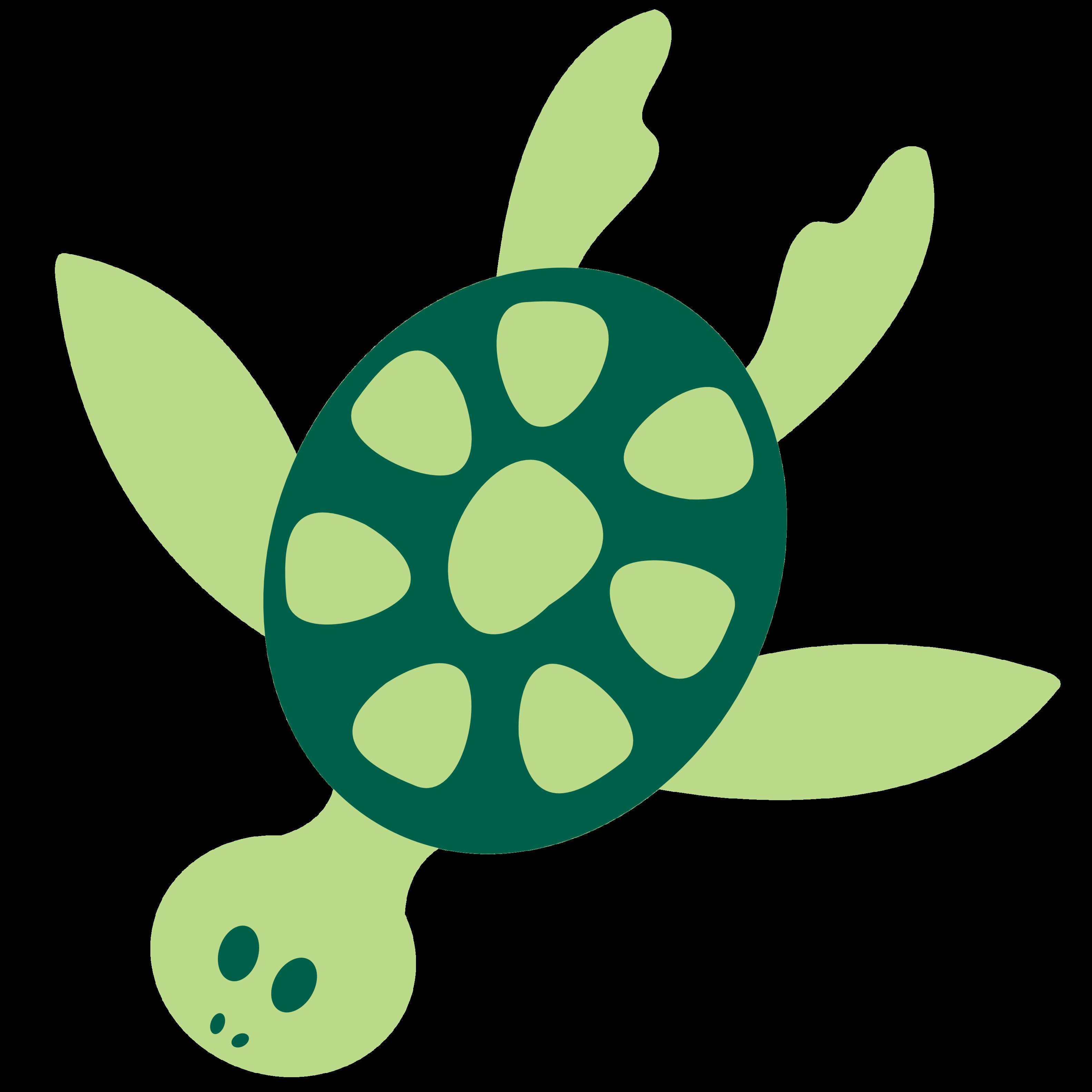 Christmas sea turtle clipart