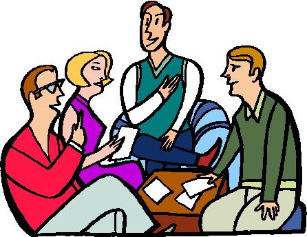 Church meeting clipart 3