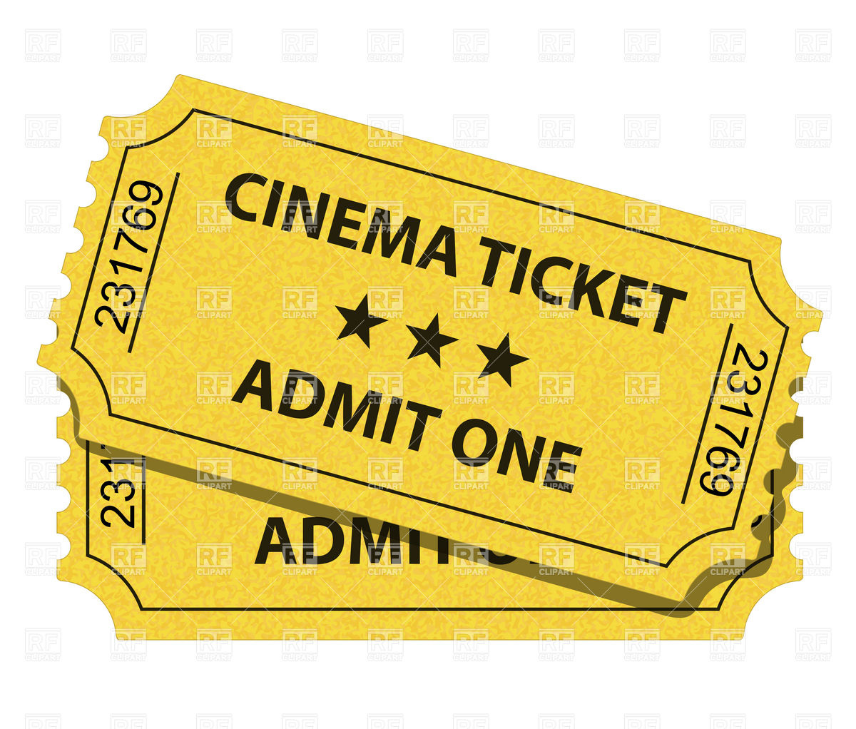 Cinema ticket clipart clipartfox