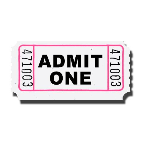 Circus ticket clipart 2
