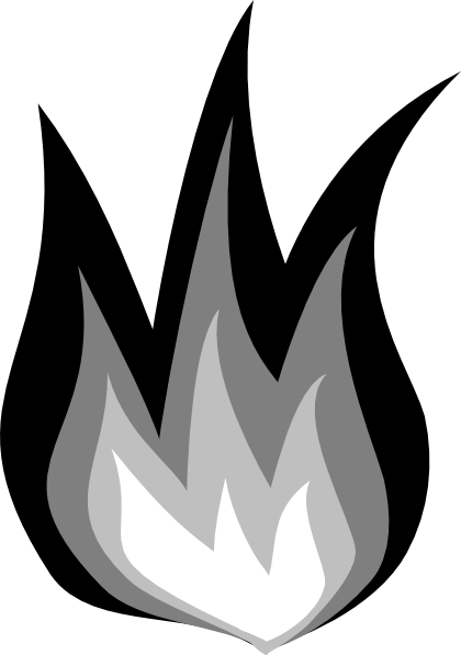 Clip art black and white fire clipart