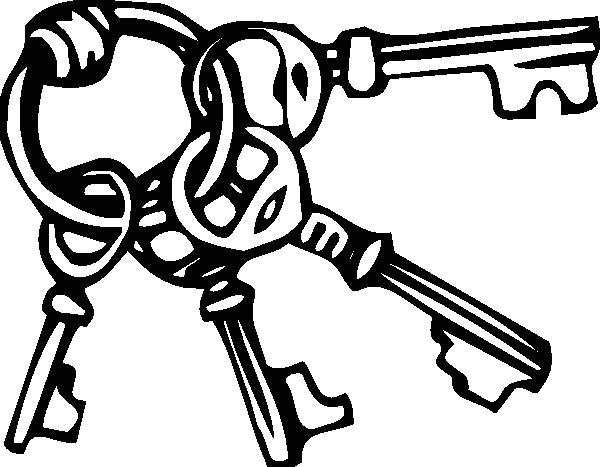 Clip art key chain clipart