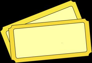 Clip art ticket clipart