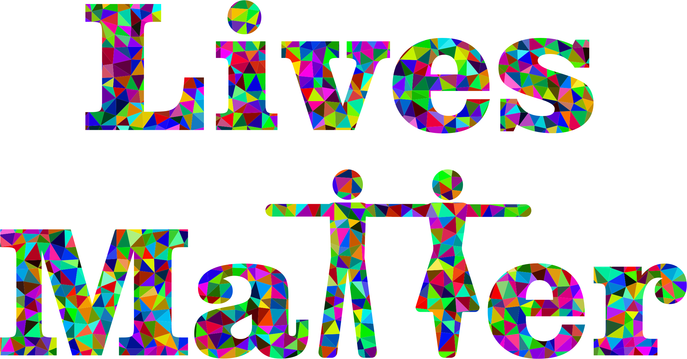Clipart prismatic lives matter typography
