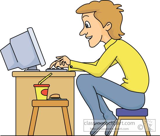 Clipart sit atputer