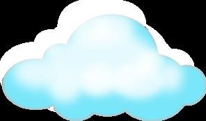 Cloud clip art blue download vector clip