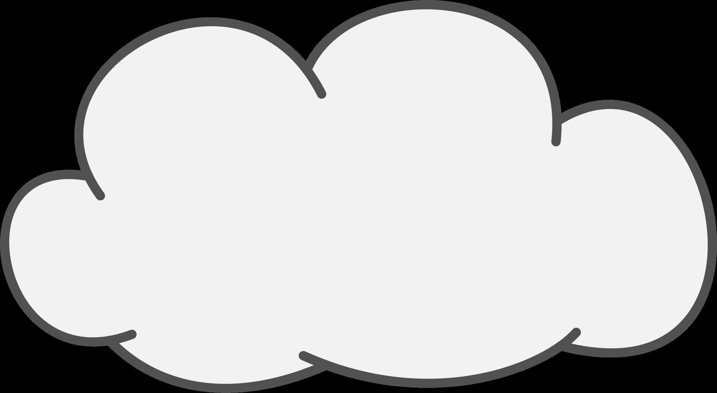 Cloud clipart outline