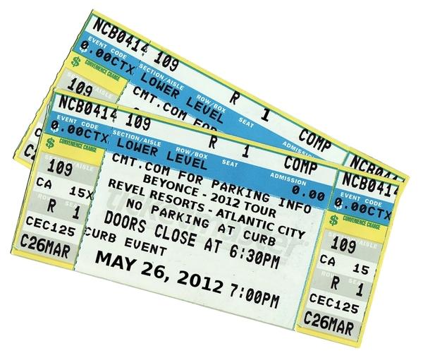 Concert ticket clipart 2