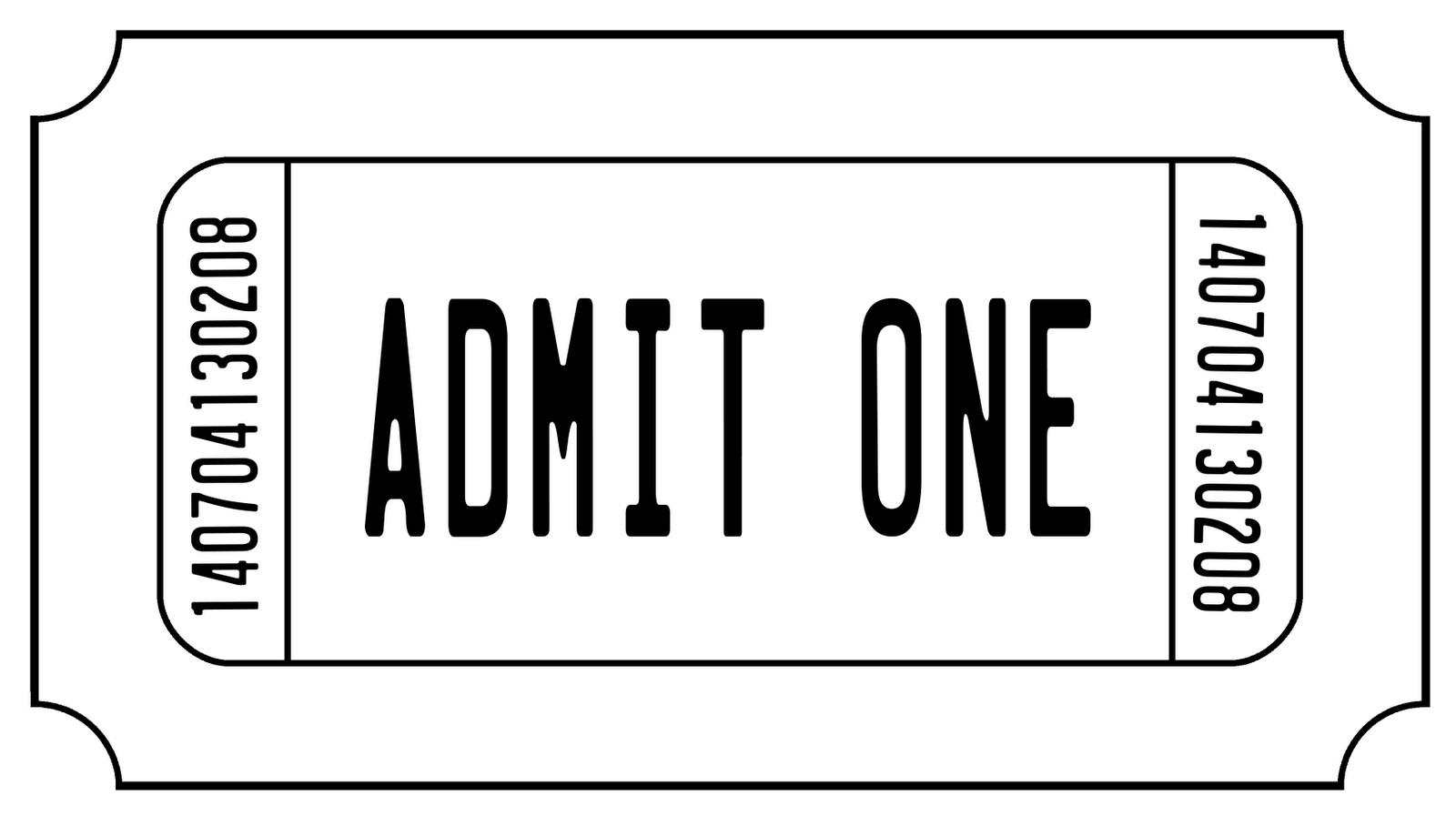 Concert ticket clipart 5