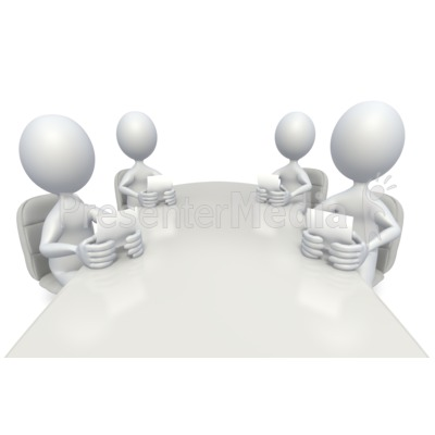Conference table meeting clipart