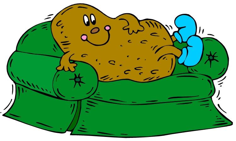 Couch potato clipart