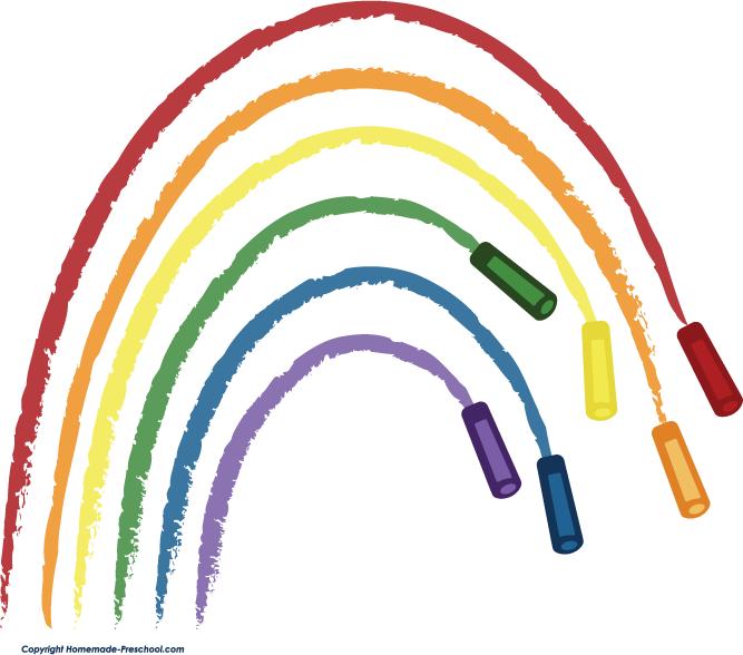 Crayon rainbow clipart