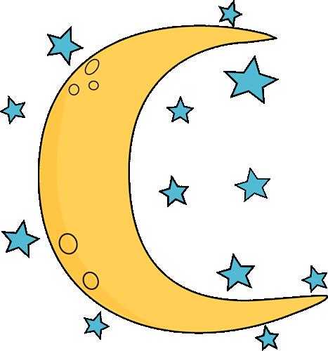 Crescent moon clipart 4