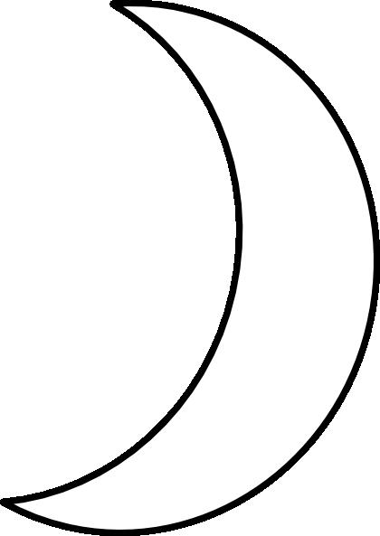 Crescent moon clipart 6