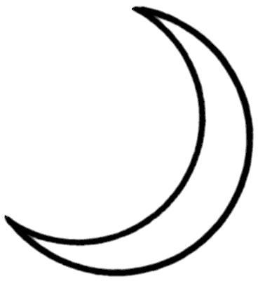 Crescent moon clipart 7
