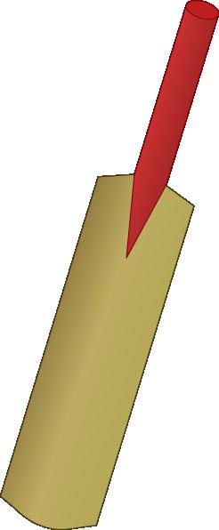Cricket bat clipart