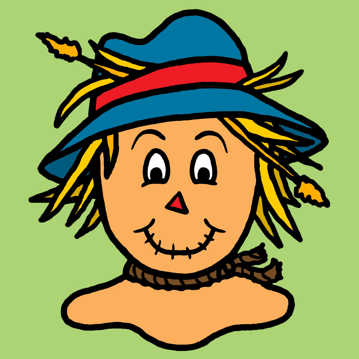 Cute scarecrow clipart 2