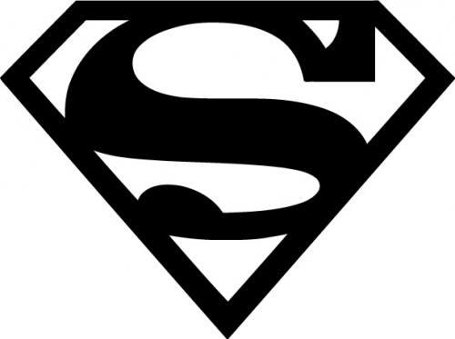 Cute silhoutte superman clipart 2