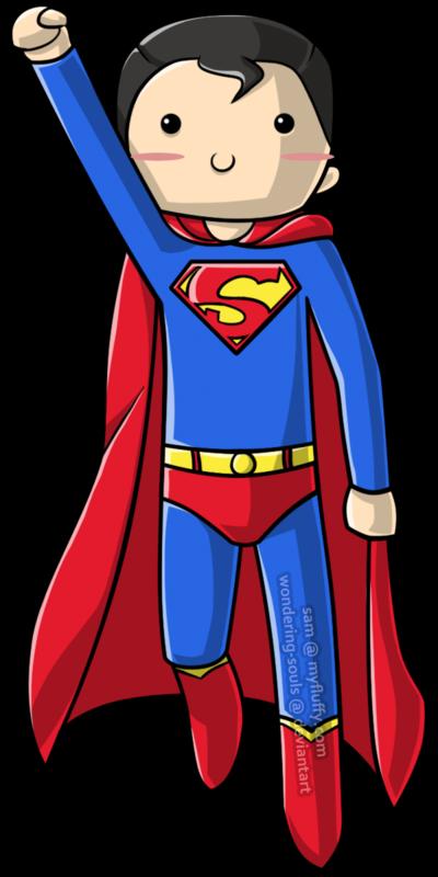 Cute superman clipart