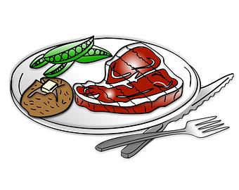 Dinner food clipart