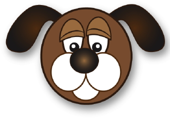 Dog clipart sad face