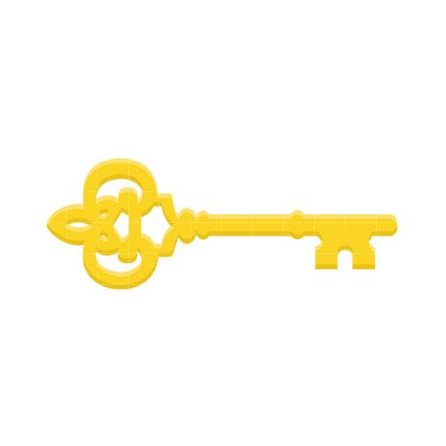 Door key clipart 3