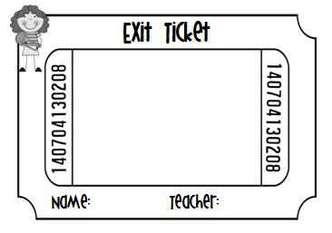 Exit ticket clipart 2