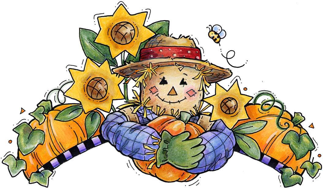 Fall scarecrow clipart