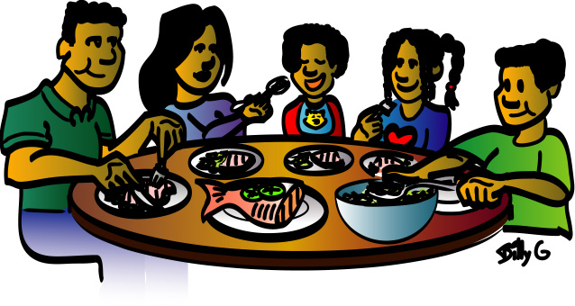 Family dinner clipart free images