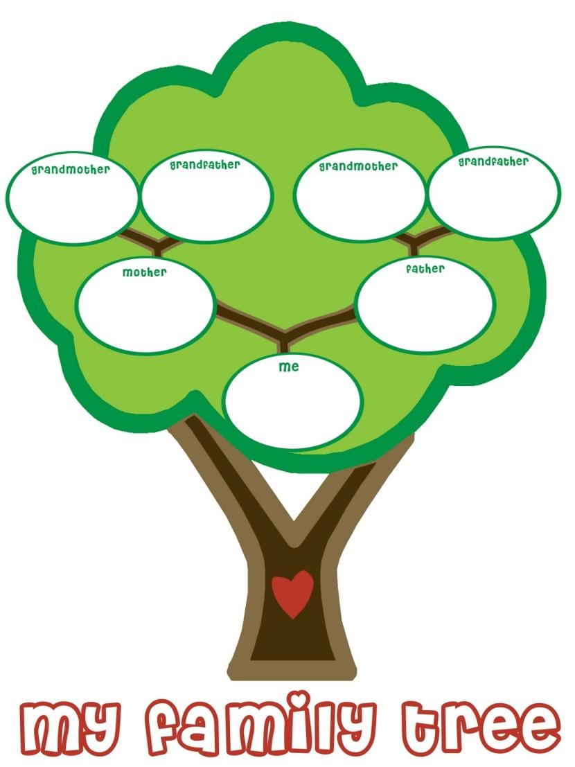 Family tree clipart 3