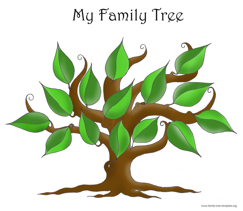 Family tree portrait template