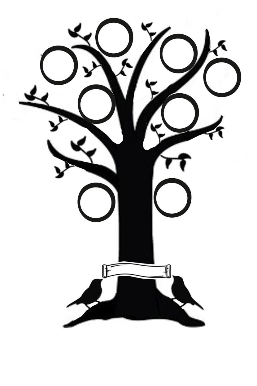 Family tree clipart 6