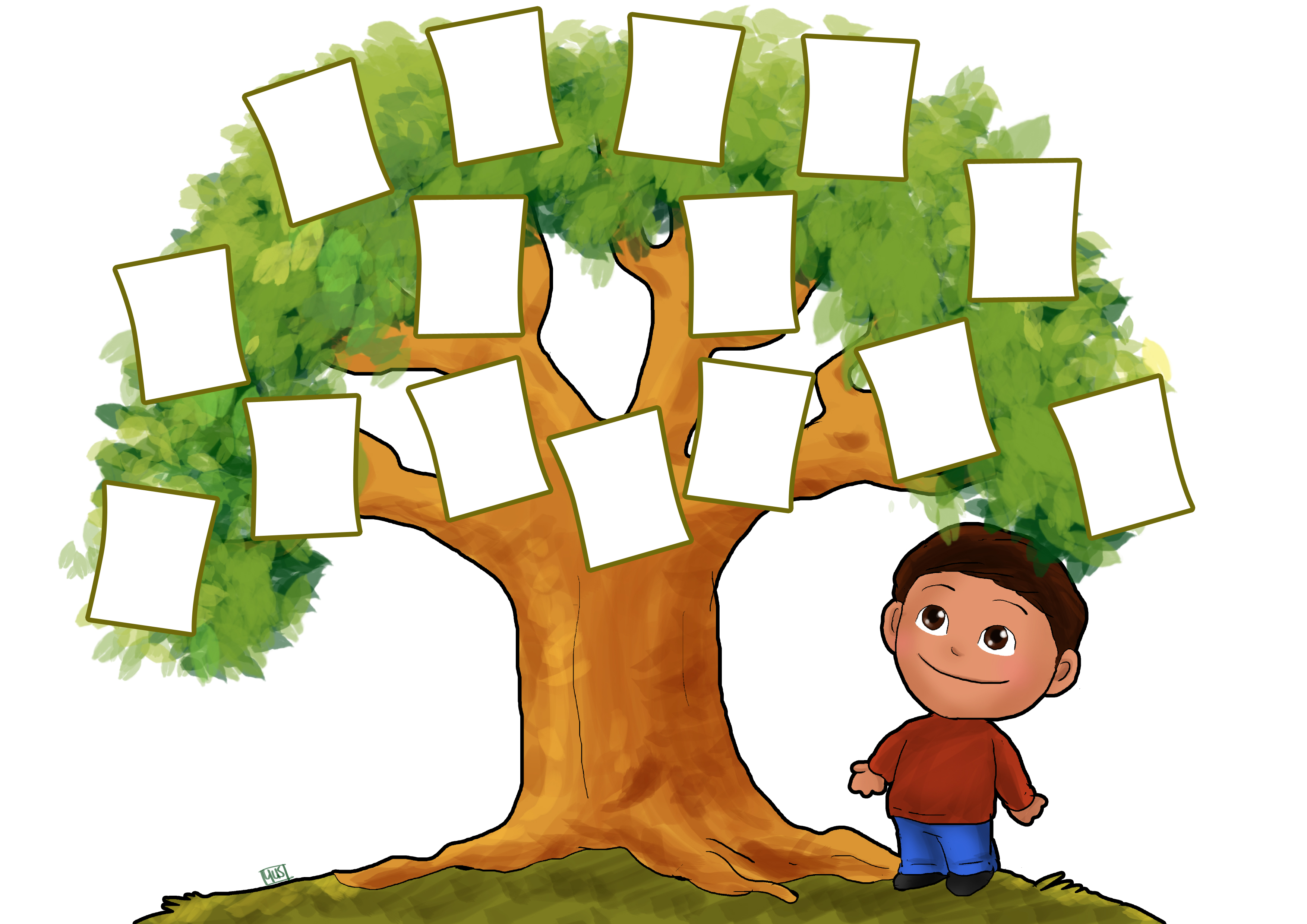 Family tree clipart free images 8