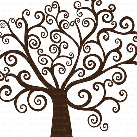 Family tree family reunion printable clipart 3