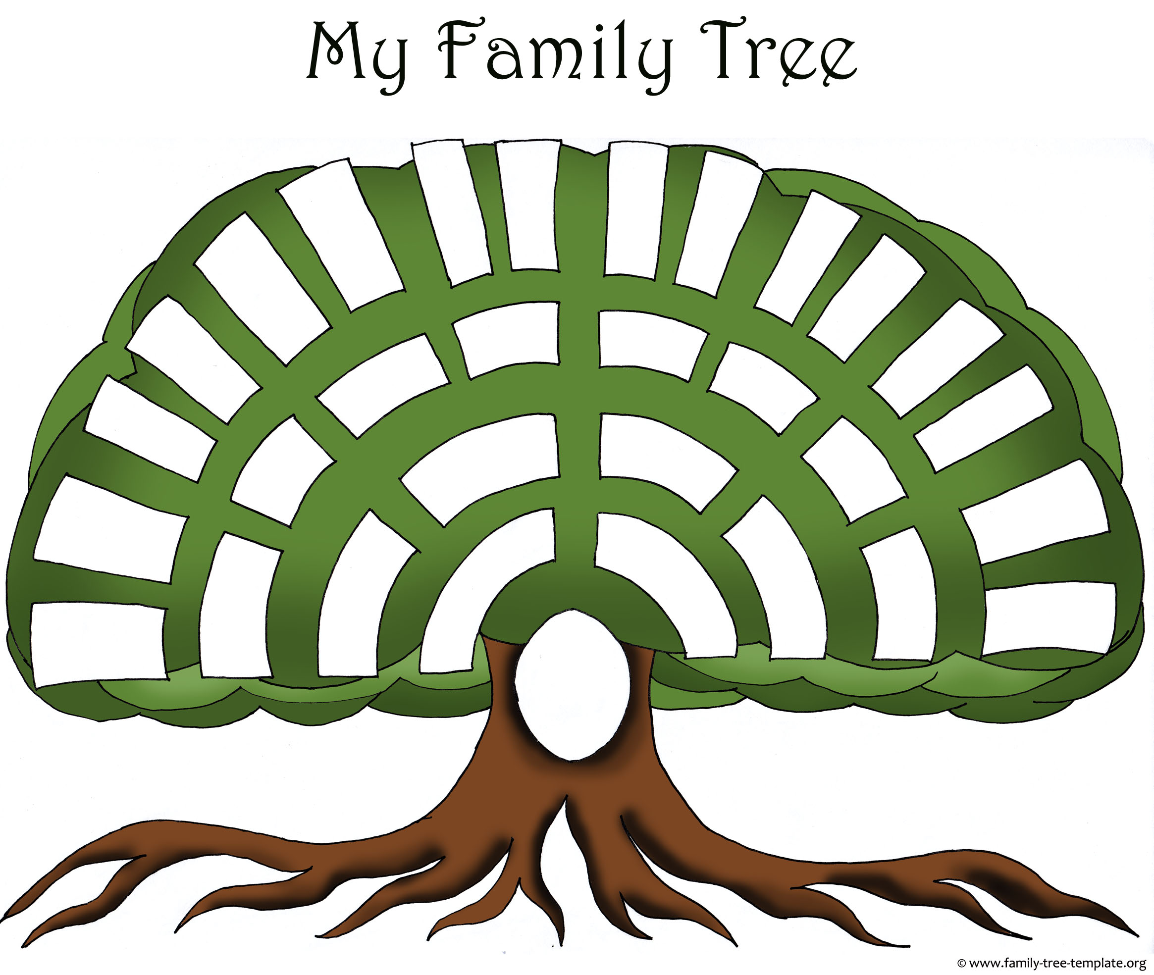 Family tree templates clipart 2