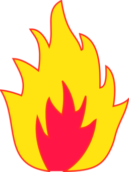 Fire clipart black and white free images