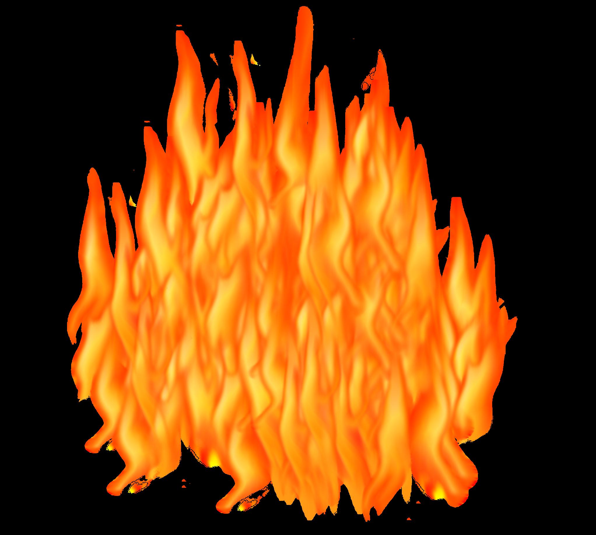 Fire clipart transparent background 2