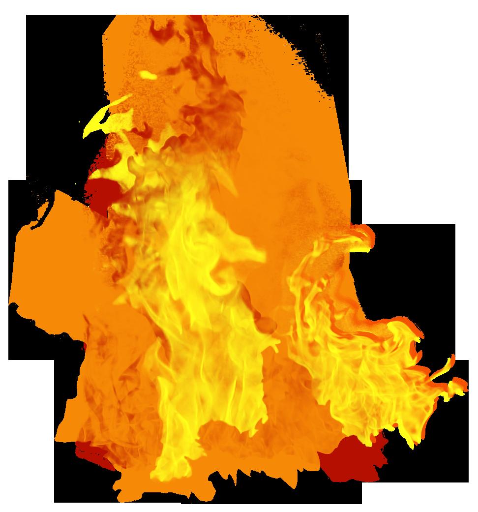 Fire clipart transparent background 3