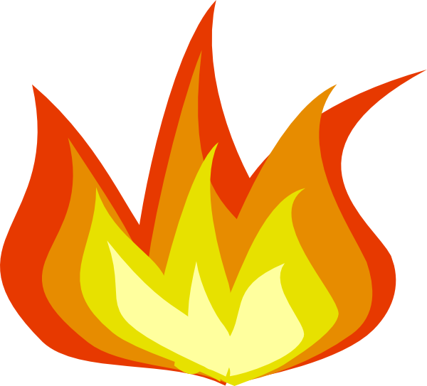 Fire flames clipart free images 3