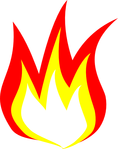 Fire flames clipart free images 4