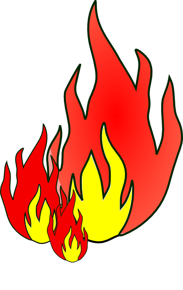 Fire flames clipart free images 5
